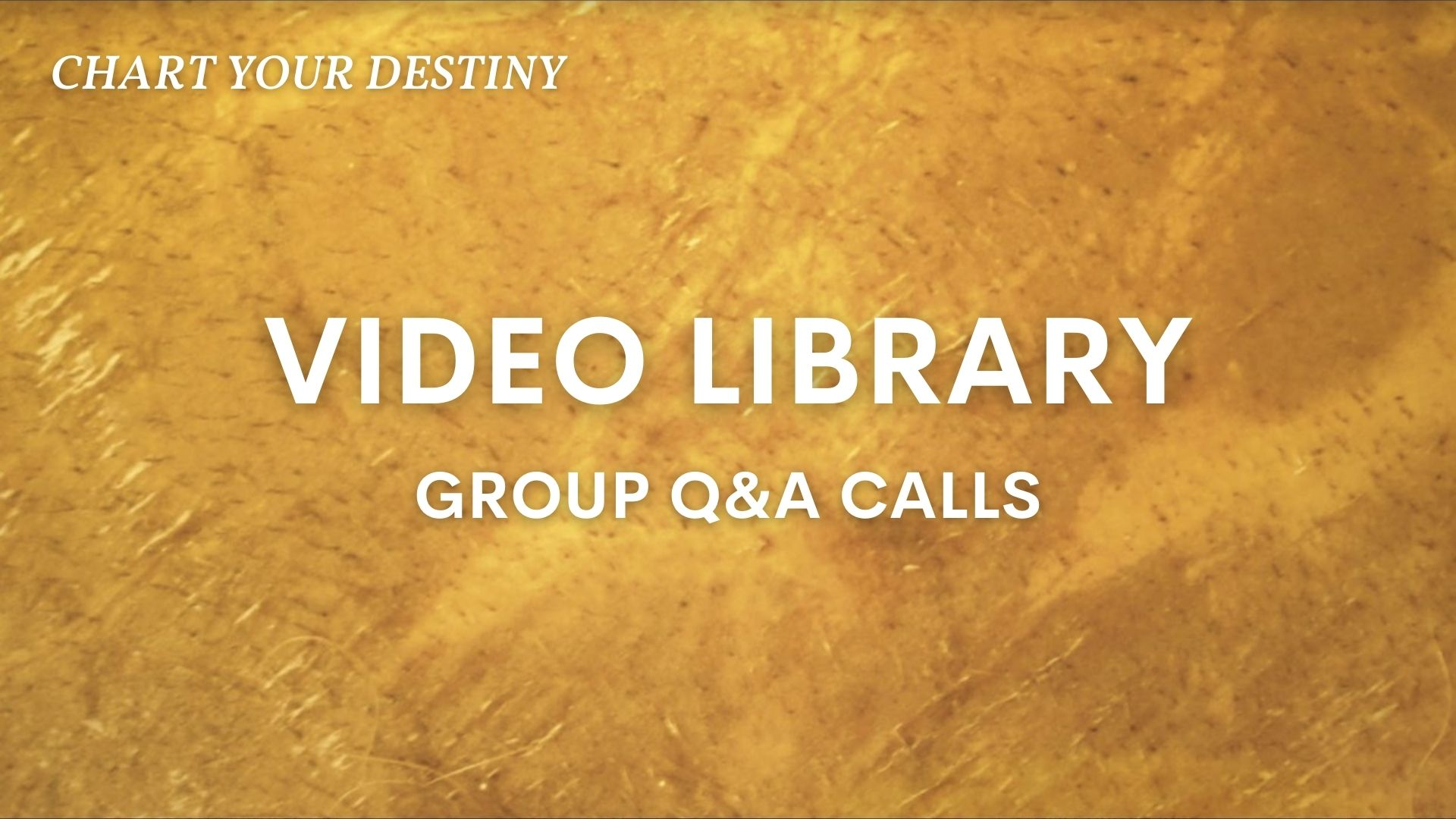 Q&A Group Calls – Video Library